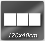 120cm x  40cm