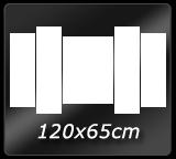 120cm x  65cm