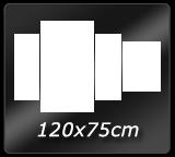 120cm x  75cm
