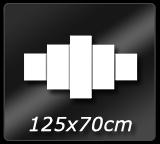 125cm x  70cm