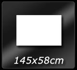 145cm x 58cm