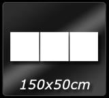 150cm x 50cm