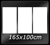 165cm x 100cm