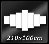 210cm x 100cm