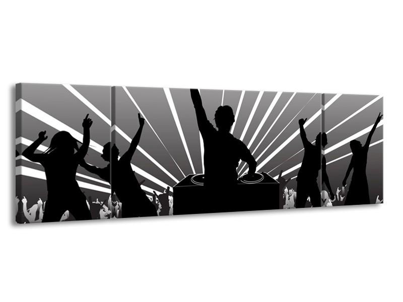 Glas schilderij Muziek | Grijs, Zwart, Wit | 170x50cm 3Luik