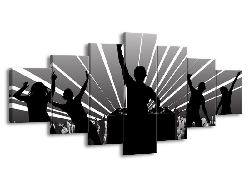Glas schilderij Muziek | Grijs, Zwart, Wit | 210x100cm 7Luik