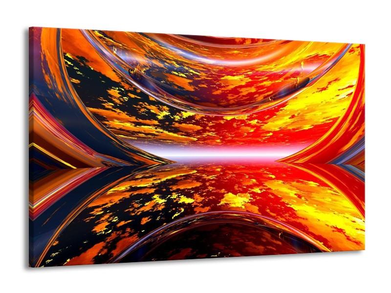 Canvas schilderij Modern   Rood, Oranje, Geel   140x90cm 1Luik