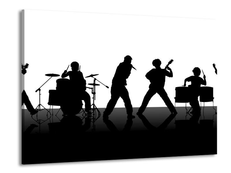 Glas schilderij Muziek | Zwart, Wit, Grijs | 100x70cm 1Luik