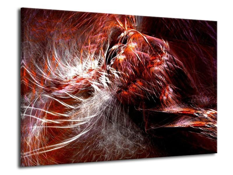 Canvas schilderij Abstract   Rood, Wit   70x50cm 1Luik