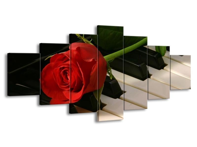 Glas schilderij Roos | Rood, Rood, Zwart | 210x100cm 7Luik
