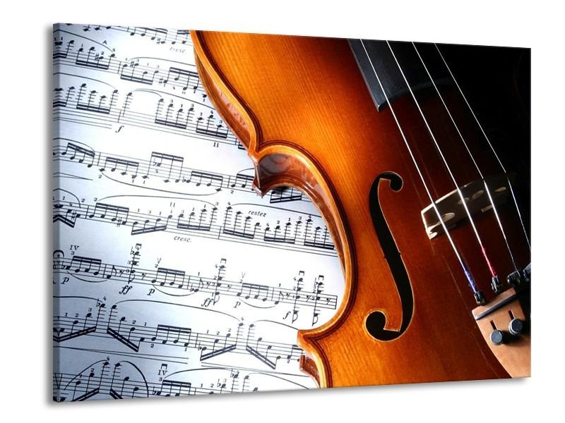 Glas schilderij Muziek | Wit, Bruin, Zwart | 100x70cm 1Luik