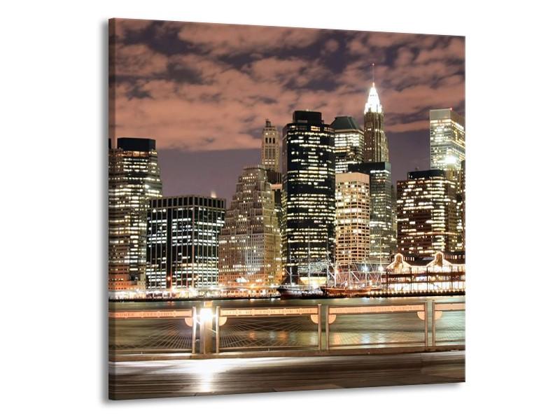 Glas schilderij Steden | Wit, Grijs, Bruin | 50x50cm 1Luik