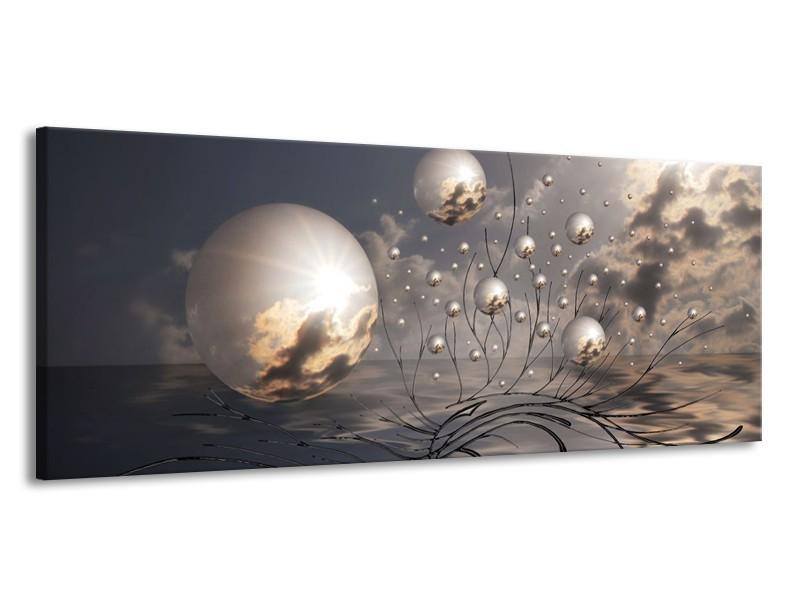 Canvas schilderij Ballen   Grijs, Wit, Zwart   145x58cm 1Luik