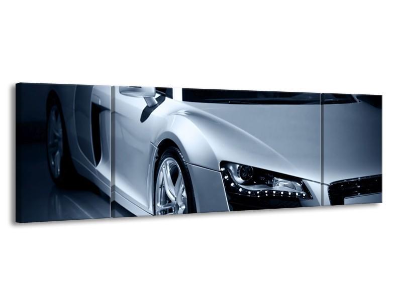 Canvas schilderij Auto | Grijs, Zwart, Grijs | 170x50cm 3Luik