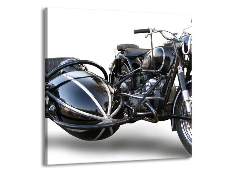 Glas schilderij Motor   Grijs, Zwart, Wit   70x70cm 1Luik