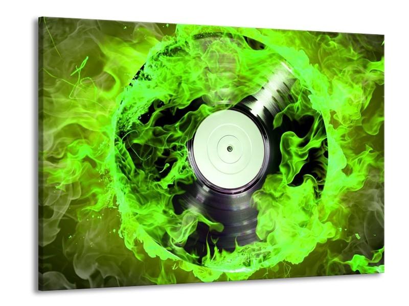 Canvas schilderij Muziek | Groen, Zwart | 100x70cm 1Luik