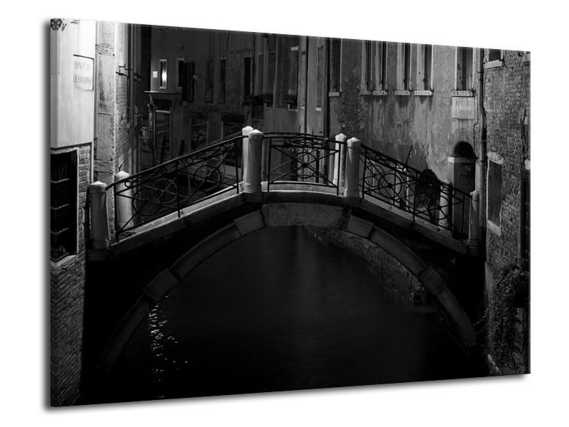 Canvas schilderij Brug | Grijs, Zwart, Wit | 70x50cm 1Luik