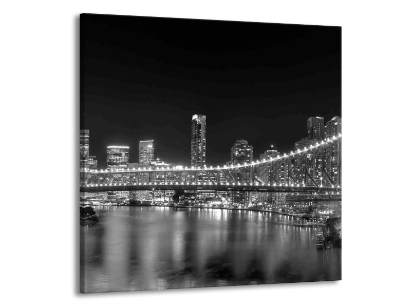 Canvas schilderij New York | Grijs, Zwart | 50x50cm 1Luik