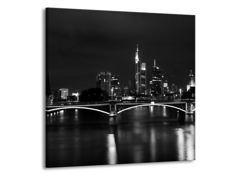 Glas schilderij Brug   Grijs, Zwart, Wit   70x70cm 1Luik