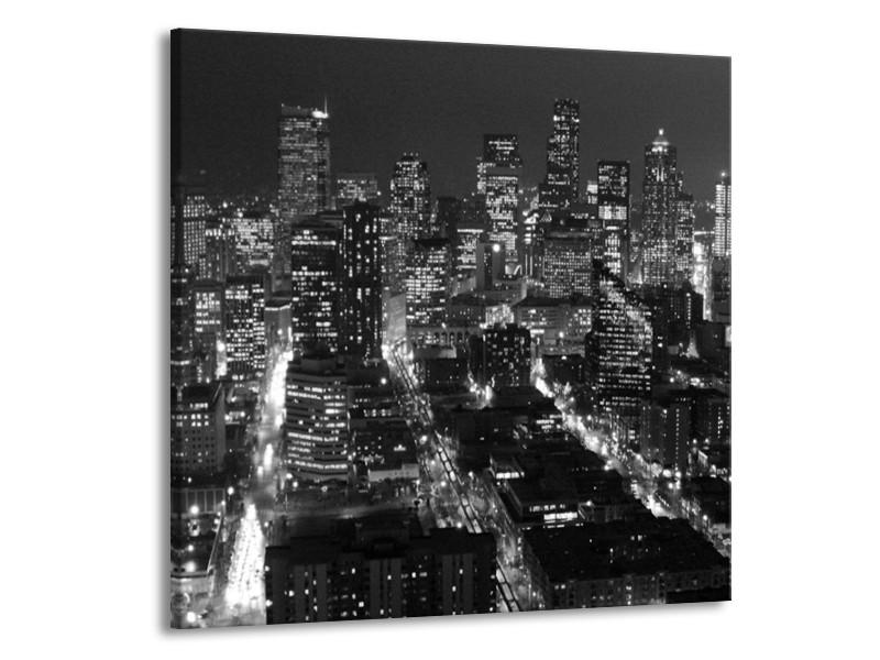 Canvas schilderij New York | Zwart, Grijs | 70x70cm 1Luik