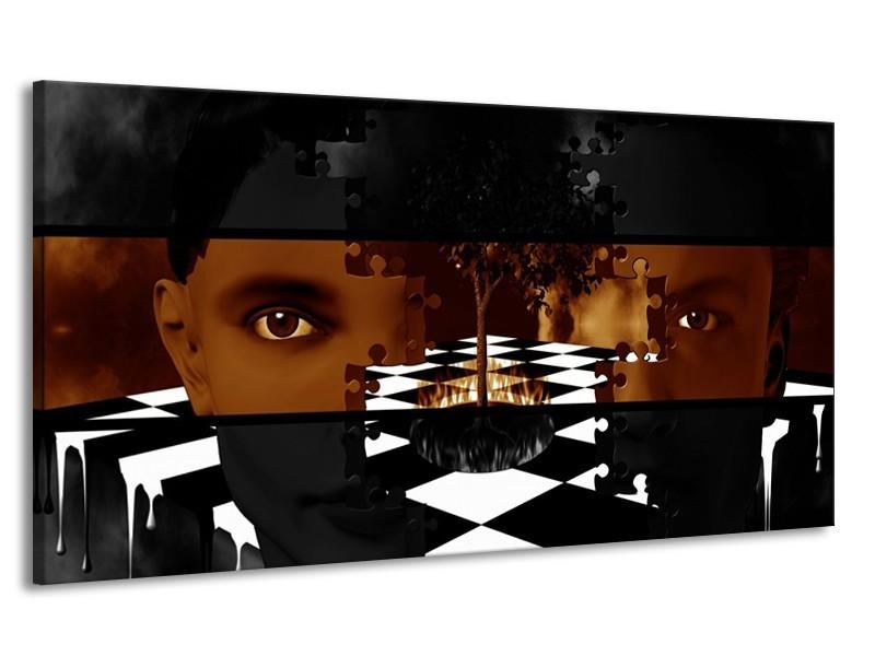 Canvas schilderij Abstract   Sepia, Bruin   170x90cm 1Luik
