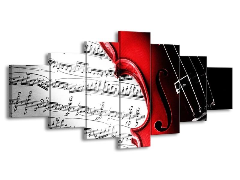 Glas schilderij Instrument | Zwart, Wit, Rood | 210x100cm 7Luik