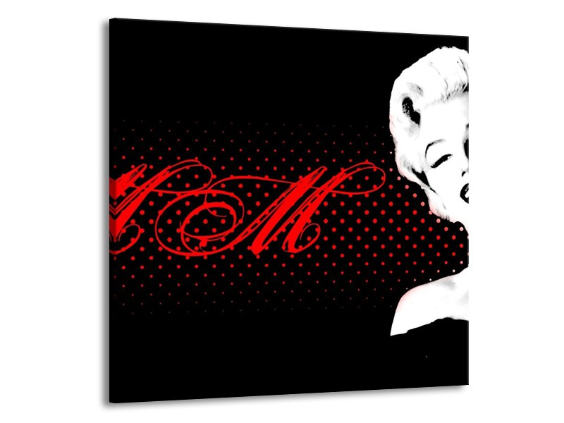 Glas schilderij Muziek | Zwart, Wit, Rood | 50x50cm 1Luik