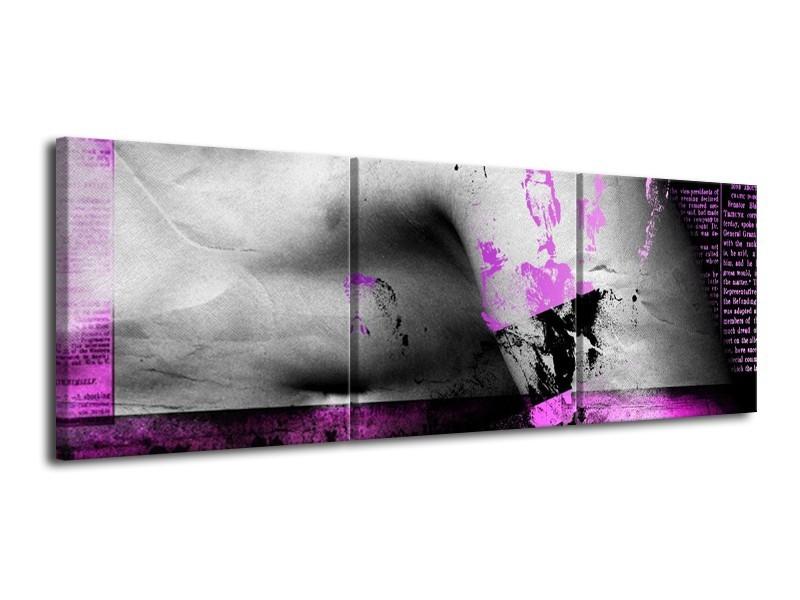 Glas schilderij Lichaam | Paars, Grijs, Zwart | 120x40cm 3Luik