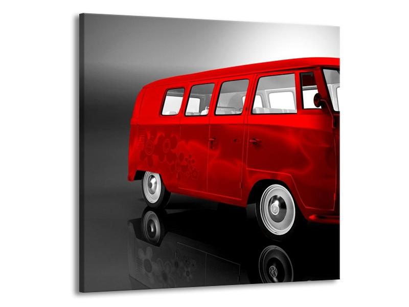 Canvas schilderij Auto | Rood, Zwart, Grijs | 70x70cm 1Luik