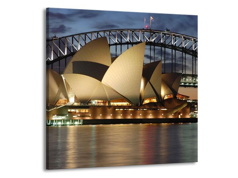 Canvas schilderij Sydney | Grijs, Blauw, Wit | 50x50cm 1Luik