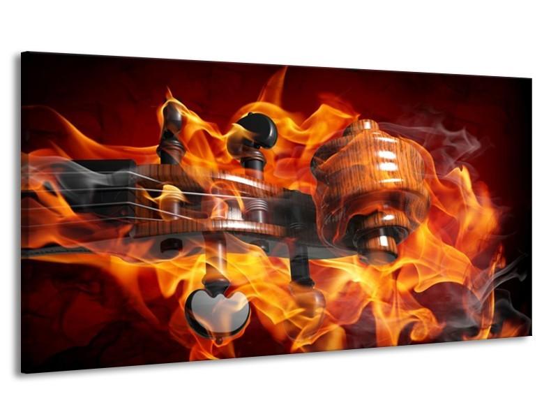 Canvas schilderij Abstract | Rood, Zwart, Geel | 170x90cm 1Luik