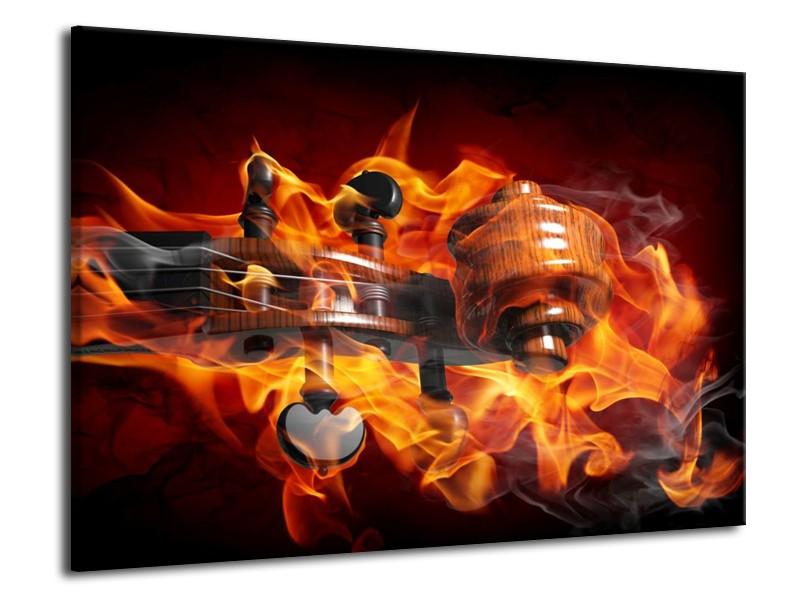 Glas schilderij Abstract   Rood, Zwart, Geel   70x50cm 1Luik