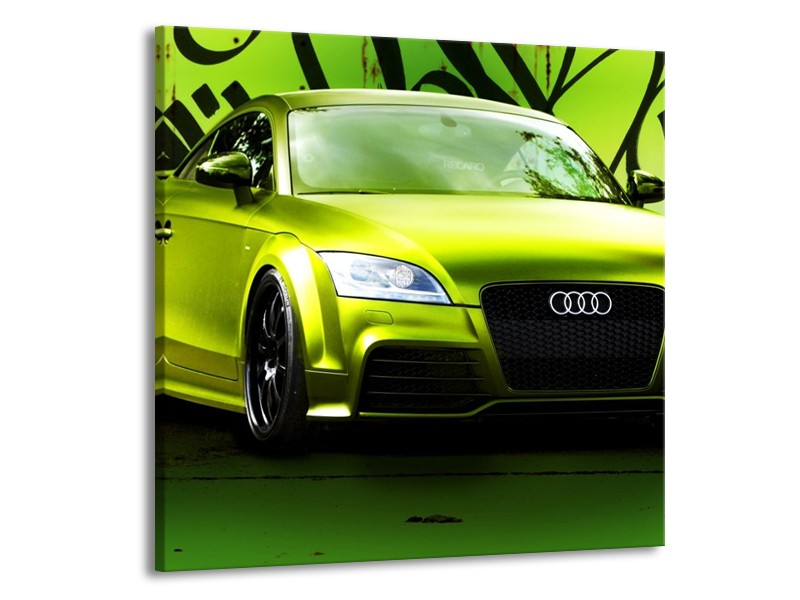 Canvas schilderij Audi | Groen, Zwart | 70x70cm 1Luik