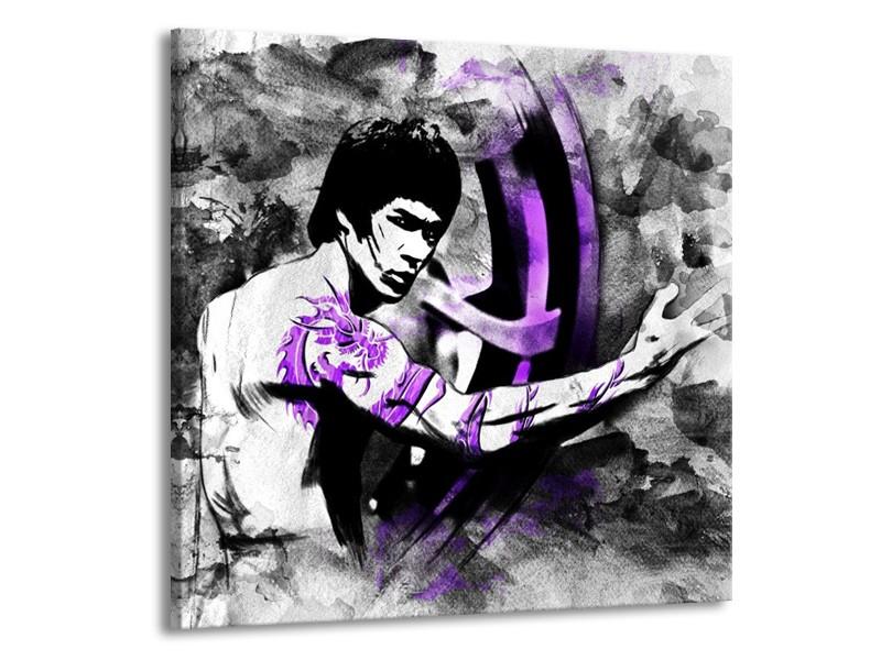 Canvas schilderij Sport | Zwart, Paars, Wit | 70x70cm 1Luik