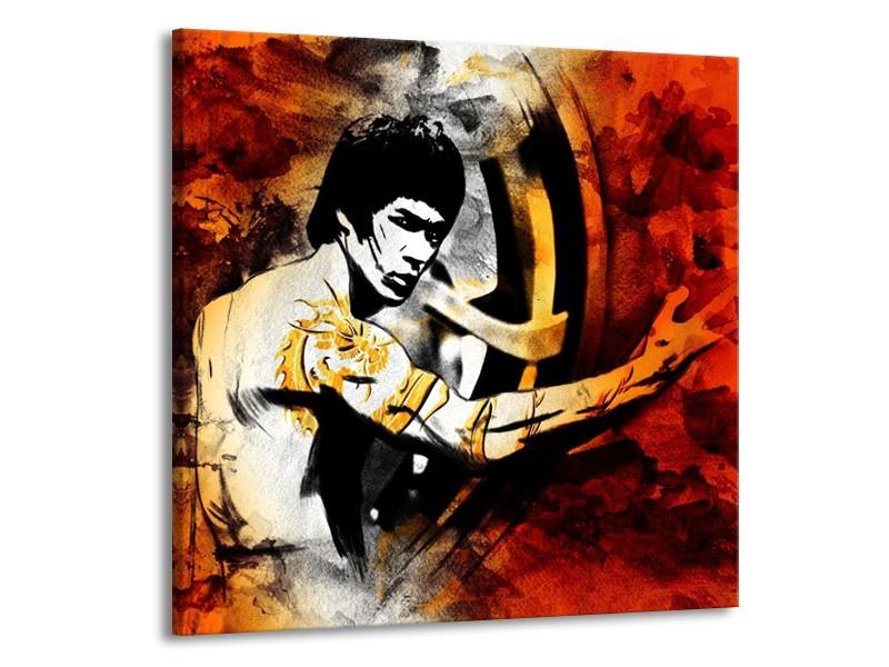 Glas schilderij Sport | Rood, Geel, Zwart | 50x50cm 1Luik