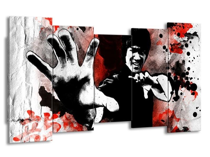 Glas schilderij Sport | Rood, Zwart, Wit | 150x80cm 5Luik