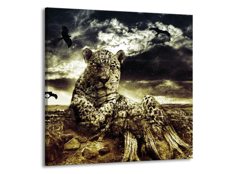 Canvas schilderij Natuur | Geel, Groen, Zwart | 70x70cm 1Luik