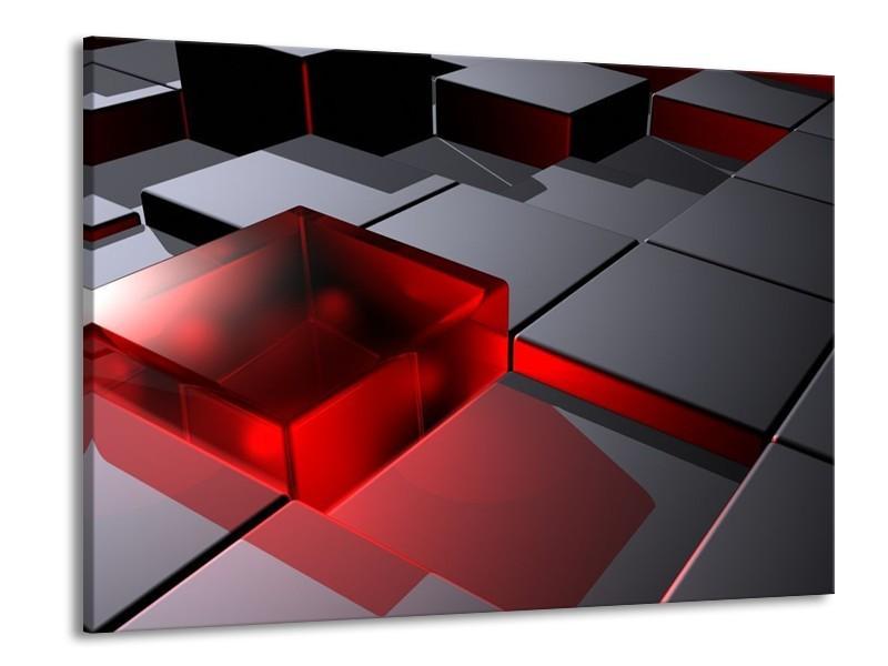 Canvas schilderij Modern | Rood, Grijs | 100x70cm 1Luik