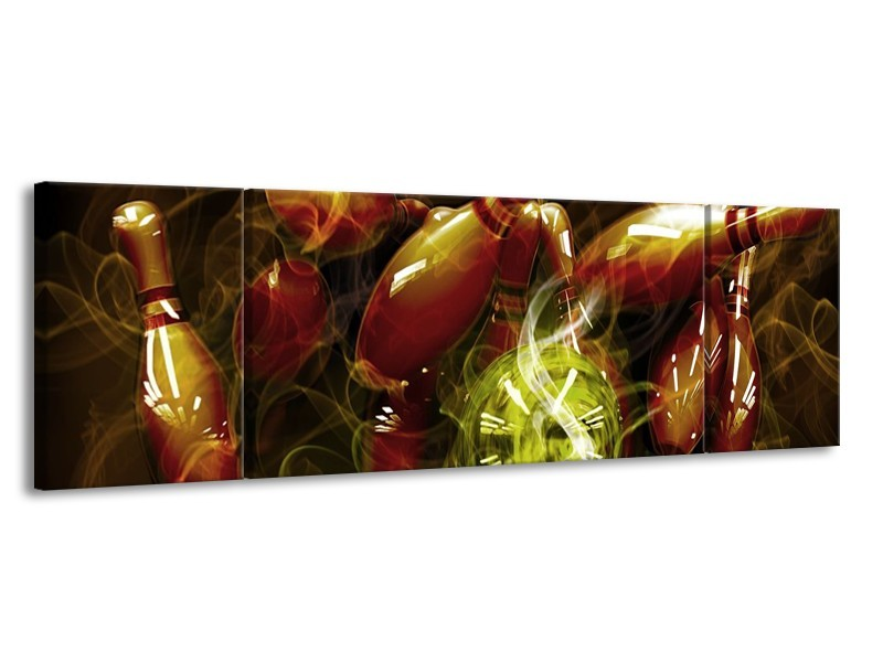 Canvas schilderij Spel | Bruin, Groen | 170x50cm 3Luik