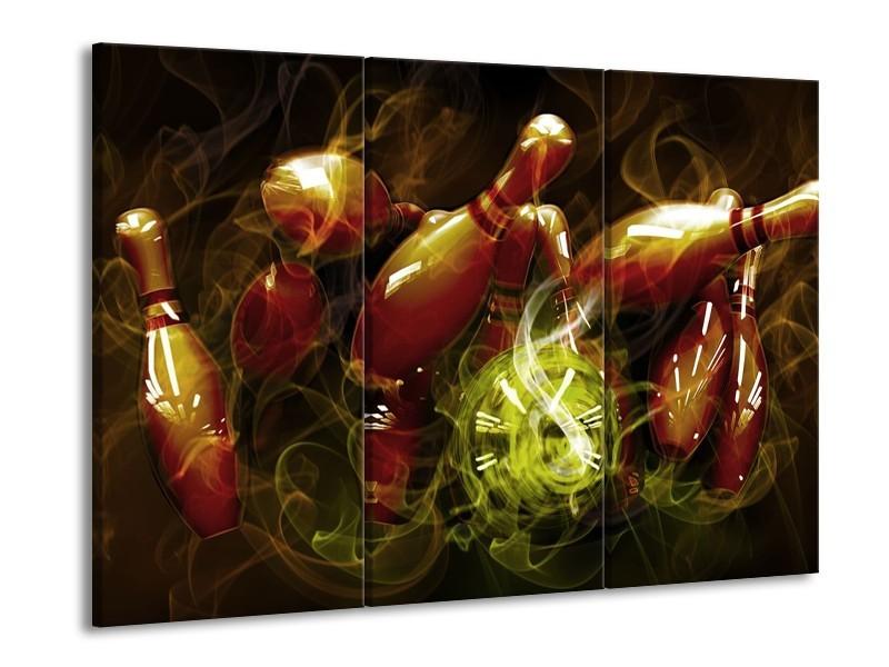Glas schilderij Spel | Bruin, Groen | 90x60cm 3Luik