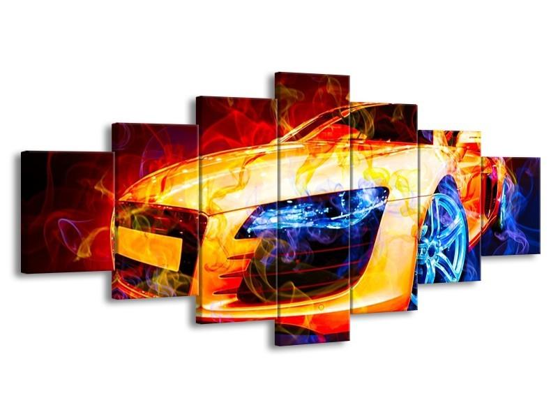 Glas schilderij Audi | Rood, Blauw, Rood | 210x100cm 7Luik