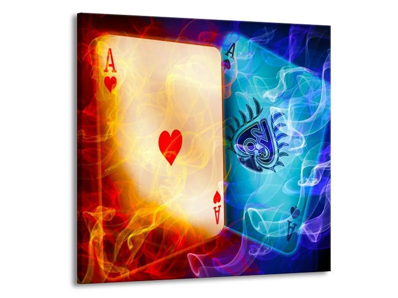 Glas schilderij Spel   Rood, Blauw, Rood   50x50cm 1Luik