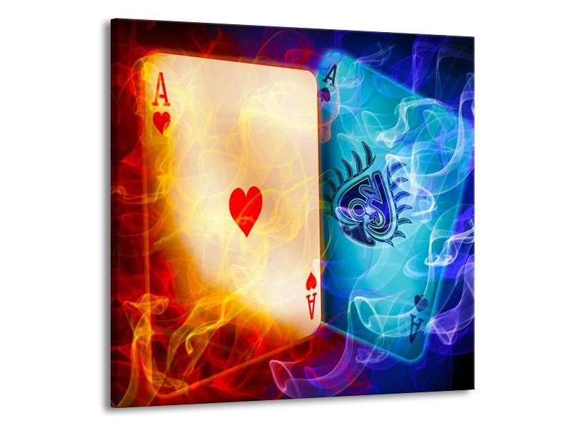 Glas schilderij Spel   Rood, Blauw, Rood   70x70cm 1Luik