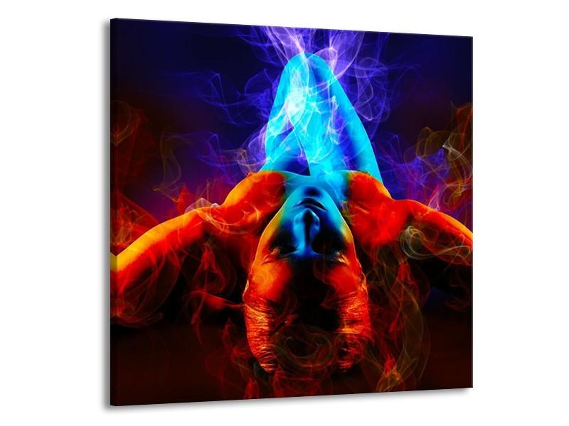 Glas schilderij Kunst   Rood, Blauw, Rood   70x70cm 1Luik