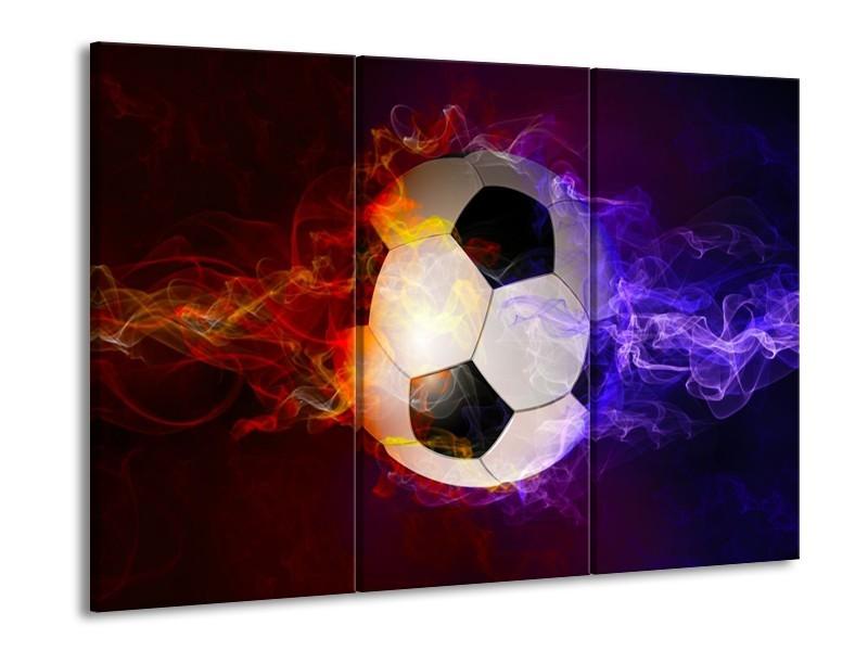 Canvas schilderij Spel | Blauw, Rood, Oranje | 90x60cm 3Luik