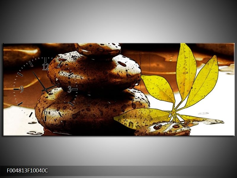 Klok schilderij Spa | Bruin, Groen | 100x40cm 1Luik