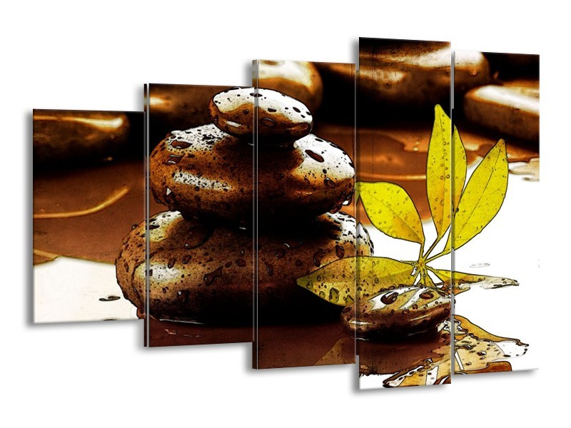 Canvas schilderij Spa | Bruin, Groen | 150x100cm 5Luik