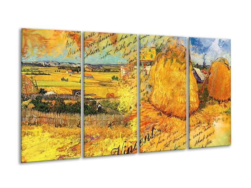 Glas schilderij Klassiek | Geel, Bruin | 160x80cm 4Luik