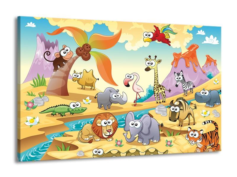 Canvas schilderij Sprookje | Groen, Roze, Paars | 140x90cm 1Luik
