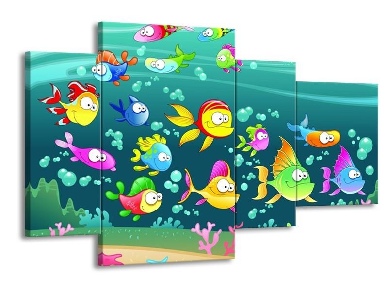 Glas schilderij Sprookje | Groen, Blauw, Paars | 120x75cm 4Luik
